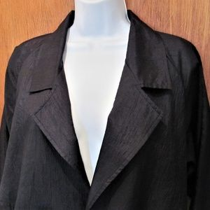 Lightweight trench like, jacket, black , with belt